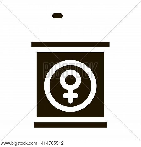 Pedestal Mike Glyph Icon Vector. Pedestal Mike Sign. Isolated Symbol Illustration