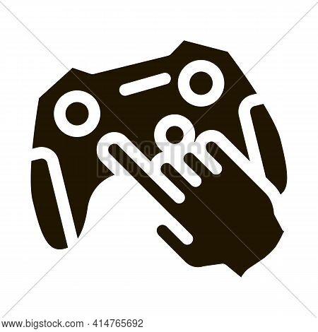 Gaming Joystick Glyph Icon Vector. Gaming Joystick Sign. Isolated Symbol Illustration