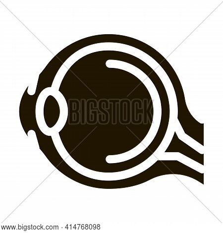 Human Eyeball Anatomy Organ Icon Vector. Health Eyeball Structure With Retina, Nerve And Neuron Pict