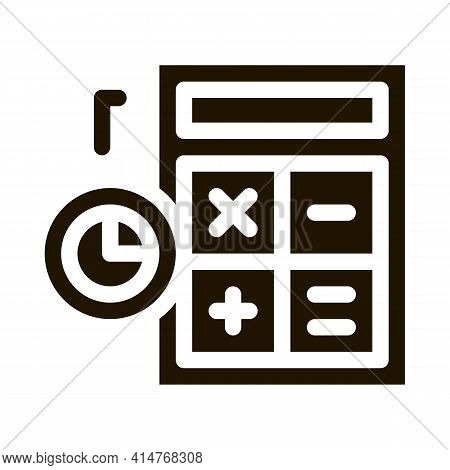 Bad Working Employee Card Icon Vector. Worker Report With Down Graphic, Exclamation Mark In Triangle