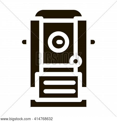 Topography Research Tool Icon Vector. Topographic Engineering Research Equipment, Modern Technology