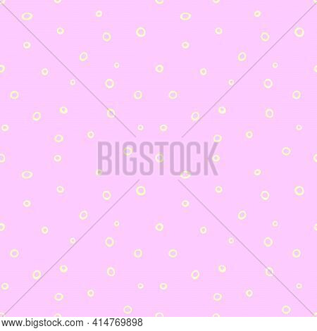 Spotted Abstract Vector Background. Cute Pastel Seamless Pattern With Spots, Asymmetric Random Polka
