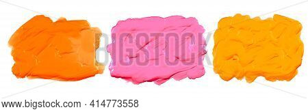 Pink Orange And Yellow Thick Acrylic Watercolor Texture