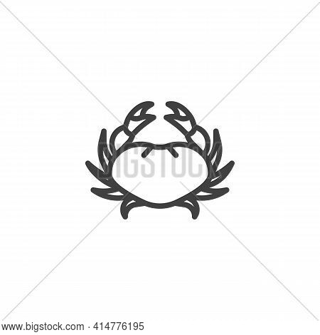Crab, Seafood Line Icon. Linear Style Sign For Mobile Concept And Web Design. Fresh Crab Outline Vec