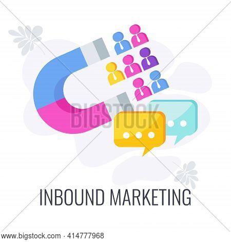 Inbound Marketing Icon. Digital Marketing. Internet Content