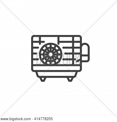 Hamster Cage Line Icon. Linear Style Sign For Mobile Concept And Web Design. Pet Cage With Hamster W