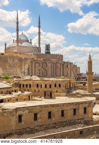 The Great Mosque Of Muhammad Ali Pasha - Alabaster Mosque - Situated In The Citadel Of Cairo In Egyp