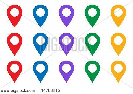 Vector Icon Search Map. Location Place - Map Pointer Icon. Gps Location Symbol - Map Pin. Map Pointe
