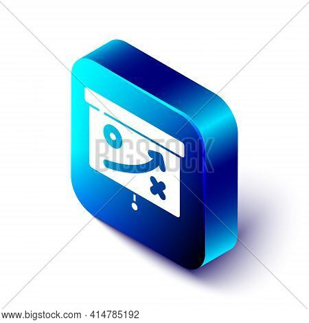 Isometric Planning Strategy Concept Icon Isolated On White Background. Cup Formation And Tactic. Blu