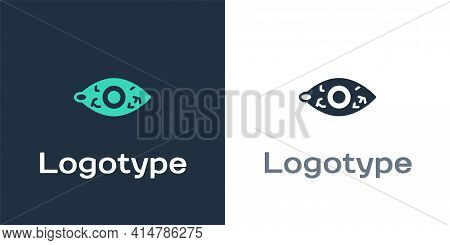 Logotype Reddish Eye Due To Viral, Bacterial Or Allergic Conjunctivitis Icon Isolated On White Backg