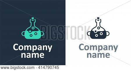 Logotype Poison In Bottle Icon Isolated On White Background. Bottle Of Poison Or Poisonous Chemical