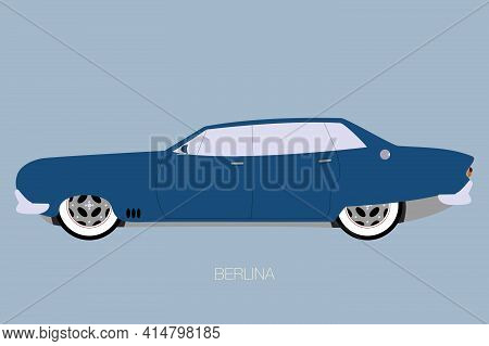 Four Door Car, Side View Of Car, Automobile, Motor Vehicle