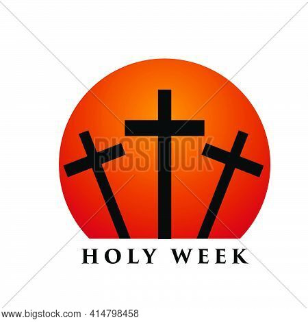 Holy Week Before Easter, Lent Season, Good Friday Crucifixion Of Jesus And His Death, Station Of Cro