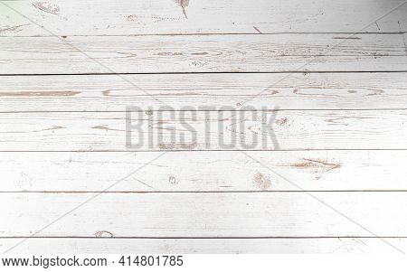 Wood Texture Or Background, Table Style Of White Boards With Darker Grains