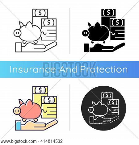 Payment Protection Insurance Icon. Loan Repayment Insurance. Covering Debt Repayments. Unemployment,