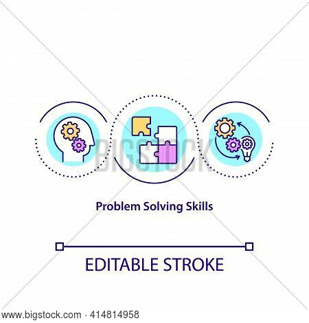 Problem Solving Skills Concept Icon. Decision Making. Analytical And Critical Mind. Creative Thinkin