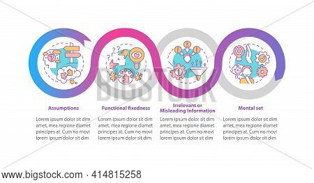 Problem Solving Issues Vector Infographic Template. Creative Thinking Presentation Design Elements.
