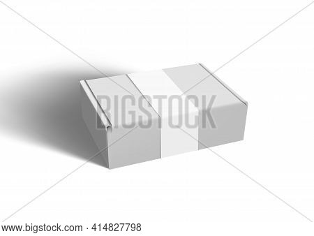 Clear Big Cardboard Box With Paper Label