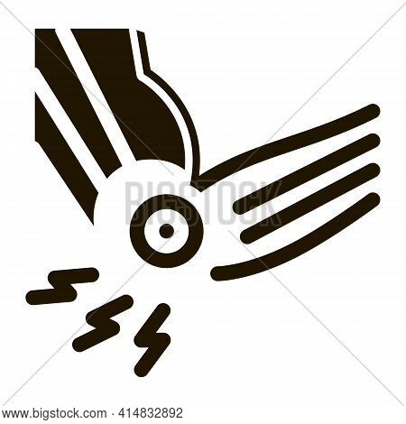 Arthritis Of Elbow Glyph Icon Vector. Arthritis Of Elbow Sign. Isolated Symbol Illustration
