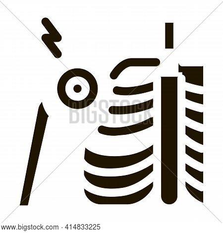 Arthritis Of Shoulder Joint Glyph Icon Vector. Arthritis Of Shoulder Joint Sign. Isolated Symbol Ill