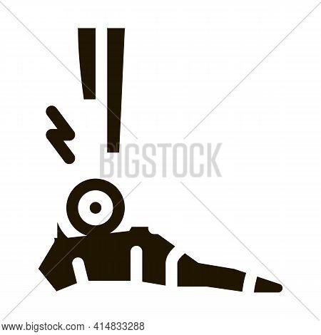 Rheumatoid Arthritis Of Foot Glyph Icon Vector. Rheumatoid Arthritis Of Foot Sign. Isolated Symbol I