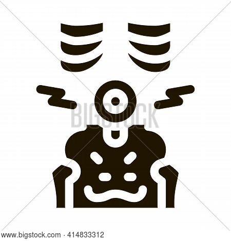 Hip Arthritis Glyph Icon Vector. Hip Arthritis Sign. Isolated Symbol Illustration