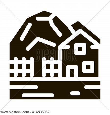 Highlands Village Glyph Icon Vector. Highlands Village Sign. Isolated Symbol Illustration