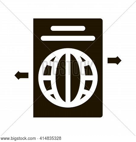 Choosing Place To Go Glyph Icon Vector. Choosing Place To Go Sign. Isolated Symbol Illustration