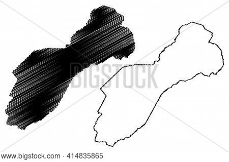 Unicoi County, State Of Tennessee (u.s. County, United States Of America, Usa, U.s., Us) Map Vector