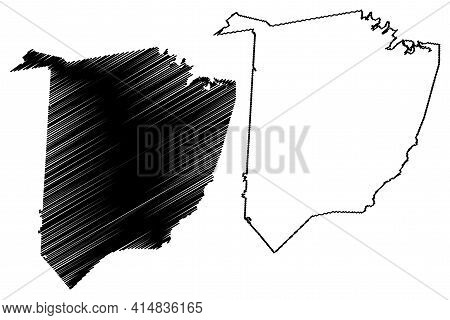 Washington County, State Of Tennessee (u.s. County, United States Of America, Usa, U.s., Us) Map Vec