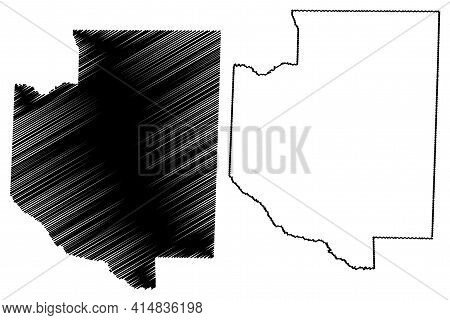 Weakley County, State Of Tennessee (u.s. County, United States Of America, Usa, U.s., Us) Map Vector