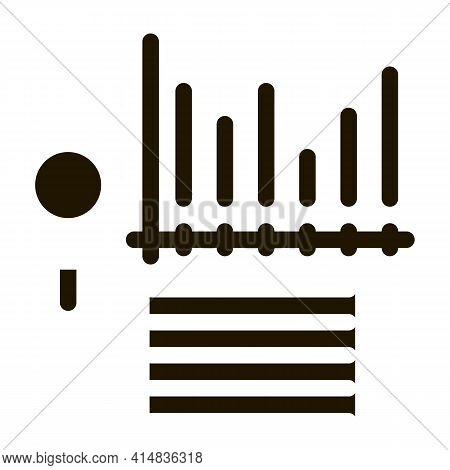 Study Bar Graph Search Engine Optimization Glyph Icon Vector. Study Bar Graph Search Engine Optimiza