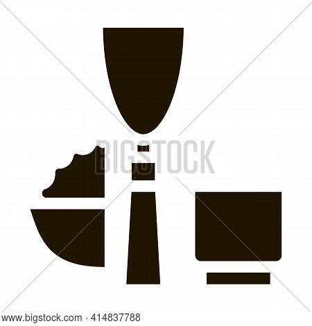 Kitchen Appliances And Devices Glyph Icon Vector. Kitchen Appliances And Devices Sign. Isolated Symb