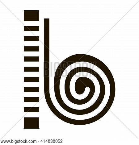 Snail Creeping Up Glyph Icon Vector. Snail Creeping Up Sign. Isolated Symbol Illustration
