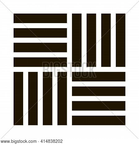 Different Linoleum Tile Designs Glyph Icon Vector. Different Linoleum Tile Designs Sign. Isolated Sy