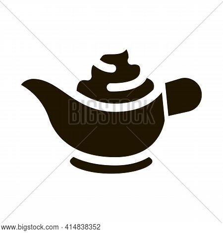 Sauce Bowl Mayonnaise Glyph Icon Vector. Sauce Bowl Mayonnaise Sign. Isolated Symbol Illustration
