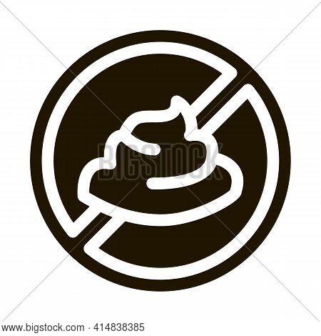 Mayonnaise Ban Glyph Icon Vector. Mayonnaise Ban Sign. Isolated Symbol Illustration