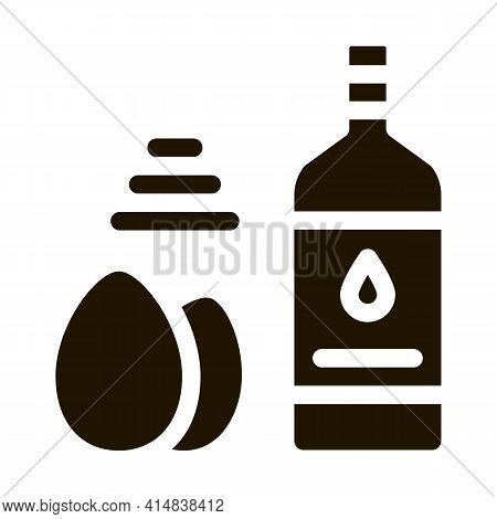 Butter Eggs And Peppers Cooking Homemade Mayonnaise Glyph Icon Vector. Butter Eggs And Peppers Cooki