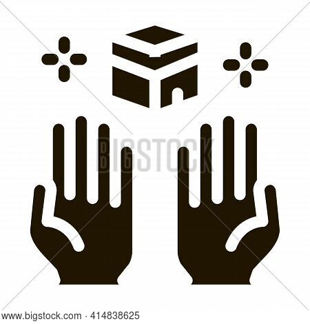 Desire For Glorified Glyph Icon Vector. Desire For Glorified Sign. Isolated Symbol Illustration