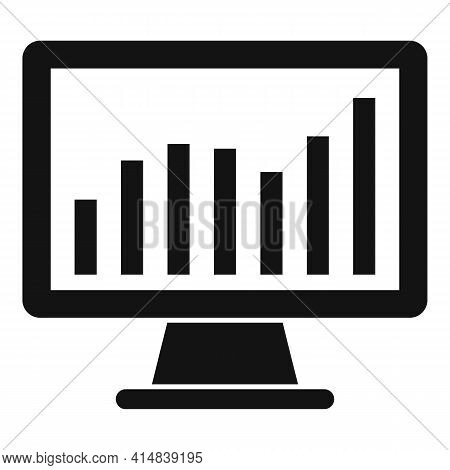 Broker Trade Monitor Icon. Simple Illustration Of Broker Trade Monitor Vector Icon For Web Design Is