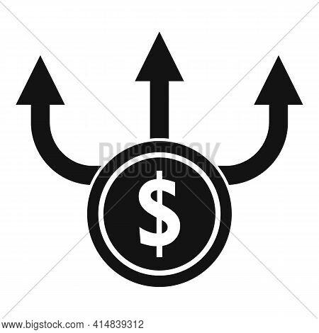 Broker Money Scheme Icon. Simple Illustration Of Broker Money Scheme Vector Icon For Web Design Isol