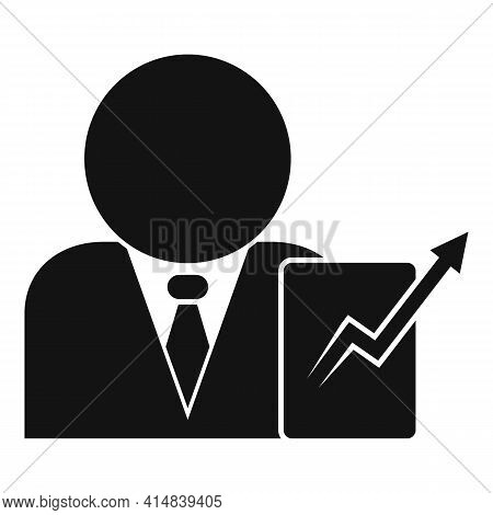 Trade Broker Icon. Simple Illustration Of Trade Broker Vector Icon For Web Design Isolated On White