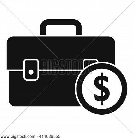 Broker Briefcase Icon. Simple Illustration Of Broker Briefcase Vector Icon For Web Design Isolated O