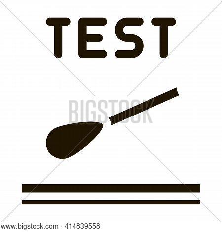 Skin Dermatitis Test Glyph Icon Vector. Skin Dermatitis Test Sign. Isolated Symbol Illustration