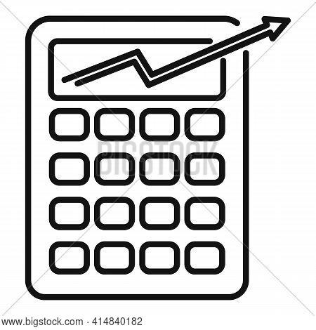 Broker Money Calculator Icon. Outline Broker Money Calculator Vector Icon For Web Design Isolated On