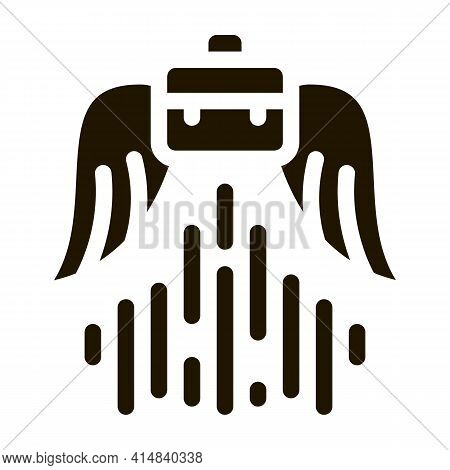 Soaring Career Glyph Icon Vector. Soaring Career Sign. Isolated Symbol Illustration
