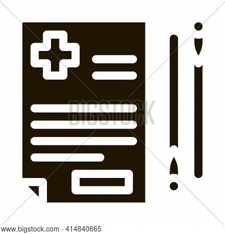 Acupuncture Medical Referral Glyph Icon Vector. Acupuncture Medical Referral Sign. Isolated Symbol I