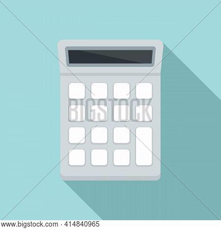 University Calculator Icon. Flat Illustration Of University Calculator Vector Icon For Web Design