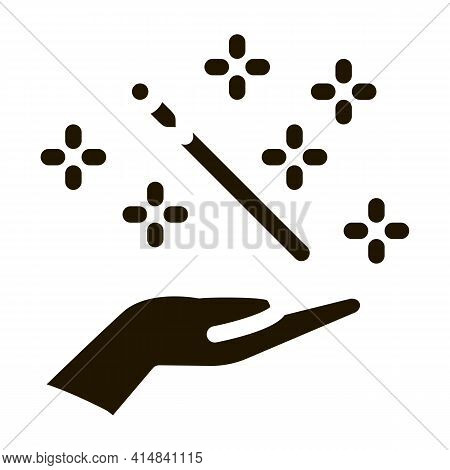 Needle Injection Glyph Icon Vector. Needle Injection Sign. Isolated Symbol Illustration