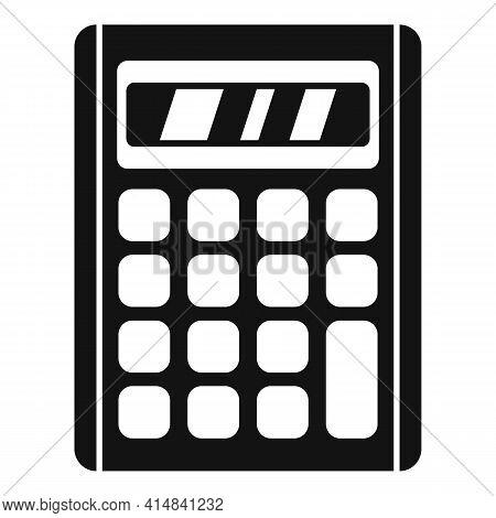 Accounting Calculator Icon. Simple Illustration Of Accounting Calculator Vector Icon For Web Design